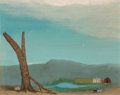 Fine Art - Painting, American, Velox Benjamin Ward (American, 1901-1994). Returning FromTown, 1961. Oil on board. 8 x 10 inches (20.3 x 25.4 cm).Sign...