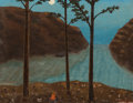 Paintings, Velox Benjamin Ward (American, 1901-1994). Arkansas Campsite, 1962. Oil on canvas. 9 x 11-1/2 inches (22.9 x 29.2 cm). S...