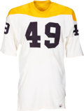 Football Collectibles:Uniforms, 1966-67 Amos Bullocks Game Worn Pittsburgh Steelers Jersey....
