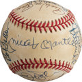 Baseball Collectibles:Balls, 1980's Hall of Famers Multi-Signed Baseball from The Enos Slaughter Collection. ...