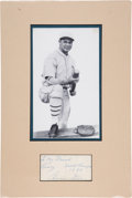 Baseball Collectibles:Others, 1929 Jimmie Foxx Signed Cut Signature Display....