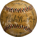 Baseball Collectibles:Balls, 1932 New York Yankees Team Signed Baseball from the World Series....