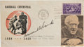 Autographs:Others, 1939 Kenesaw Mountain Landis Signed Baseball Centennial First DayCover, PSA/DNA Mint 9....