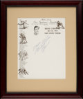 Baseball Collectibles:Others, 1970 Roberto Clemente Signed Letterhead, PSA/DNA NM-MT 8....