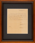 Baseball Collectibles:Others, 1947 Satchel Paige Signed Barnstorming Contract....