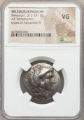 Ancients:Ancient Lots  , Ancients: ANCIENT LOTS. Greek. Seleucid Kingdom. Ca. 312-125 BC.Lot of three (3) AR and AE. NGC VG-Fine.... (Total: 3 coins)