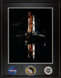 Explorers:Space Exploration, Apollo 12 Large Launchpad Color Photo Signed by Alan Bean and Richard Gordon in Framed Display. ...