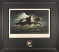 """Explorers:Space Exploration, Apollo 13 """"Steeds of Apollo"""" Limited Edition, #AP9/50, Color Print by Mission Insignia Designer Lumen Winter, Signed by James ..."""