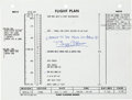 Explorers:Space Exploration, Apollo 11 Flown Flight Plan Page 3-130 & 3-131 with Neil Armstrong Notations, Originally from the Personal Collect...