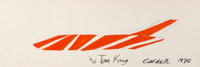 Alexander Calder (1898-1976) Untitled, 1975 Gouache, pencil, and ink on paper 15-3/4 x 47-3/4 inc