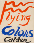 Post-War & Contemporary:Contemporary, Alexander Calder (1898-1976). Flying Colors, 1973. Gouacheand ink on paper. 10 x 8-1/4 inches (25.4 x 21.0 cm). Signed ...