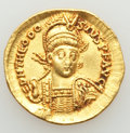 Ancients:Roman Imperial, Ancients: Theodosius II, Eastern Roman Empire (AD 402-450). AV solidus (20mm, 4.03 gm, 12h). XF....