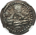 Ancients:Oriental, Ancients: PERSIS KINGDOM. Ardashir I (AD 205-224). AR drachm (21mm, 3.63 gm, 2h). NGC Choice AU 4/5 - 4/5....