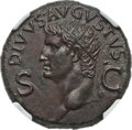 Ancients:Roman Imperial, Ancients: Divus Augustus (died AD 14). AE dupondius (29mm, 14.99gm, 7h). NGC AU 5/5 - 2/5, smoothing....
