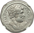 Ancients:Roman Imperial, Ancients: Hadrian (AD 117-138). AR cistophorus (27mm, 9.88 gm, 7h).NGC XF 4/5 - 4/5, overstruck....