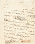 Autographs:U.S. Presidents, James Monroe Autograph Letter with Clipped Signature Affixed....(Total: 2 Items)