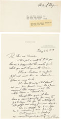 Autographs:U.S. Presidents, Richard Nixon Autograph Letter Signed....