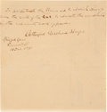 Autographs:U.S. Presidents, Rutherford B. Hayes Autograph Quote Signed....