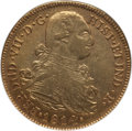Colombia, Colombia: Ferdinand VII gold 8 Escudos 1814 P-JF AU53 NGC,...
