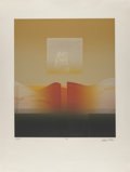 Fine Art - Work on Paper:Print, Carlos Davila (b. 1935). Space Time I and Palm II(two works), 1979. Aquatints on wove paper. 35 x 26 inches (88.9x... (Total: 2 Items)