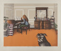 Prints & Multiples:Print, Richard Grote (20th century). Bessie's Sonata and Cat's Pause (two works), 1979. Lithographs in colors on wove paper... (Total: 2 Items)