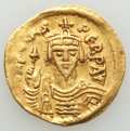 Ancients:Byzantine, Ancients: Phocas (AD 602-610). AV solidus (21mm, 4.45 gm, 7h). VF,graffito, scratches....