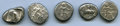 Ancients:Ancient Lots , Ancients: ANCIENT LOTS. Greek. Ca. mid-5th century BC. Lot of 5 ARstaters. Fine-VF, test cut.... (Total: 5 coins)