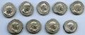 Ancients:Ancient Lots , Ancients: ANCIENT LOTS. Roman Imperial. Ca. AD 193-217. Lot of nine(9) AR denarii. About VF-XF.... (Total: 9 coins)