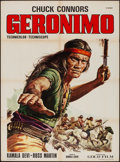 """Movie Posters:Western, Geronimo & Other Lot (Gold, R-1972). Folded, Very Fine-.Italian 2 - Foglis (2) (39.25"""" X 55.25""""). Western.. ... (T..."""