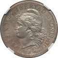 Argentina, Argentina: Republic silver Unofficial Restrike Pattern Peso 1880UNC Details (Cleaned) NGC,...