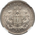 German States:Hamburg, German States: Hamburg. Free City 2 Mark 1876-J MS62 NGC,...