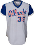 Baseball Collectibles:Uniforms, 1976 Phil Niekro Game Worn Atlanta Braves Jersey. ...