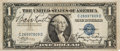 Baseball Collectibles:Others, Circa 1935 Babe Ruth & Ken Strong Signed Silver Certificate....