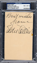 Baseball Collectibles:Others, 1950 Eddie Collins Signed Government Postcard, PSA/DNA NM-MT 8....