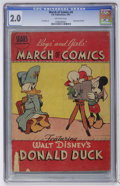 Golden Age (1938-1955):Funny Animal, March of Comics #4 Donald Duck (K. K. Publications, Inc., 1947) CGCGD 2.0 Off-white pages....