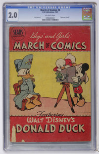 March of Comics #4 Donald Duck (K. K. Publications, Inc., 1947) CGC GD 2.0 Off-white pages