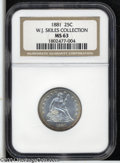 Seated Quarters: , 1881 25C MS63 NGC....