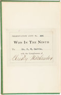 """Baseball Collectibles:Others, 1910 Christy Mathewson Signed """"Won in the Ninth"""" Book. ..."""