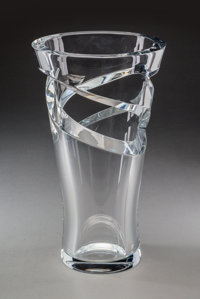 A Baccarat Tornado Glass Vase, France, late 20th century Marks: BACCARAT</