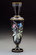 Ceramics & Porcelain, An Enamel and Partial Gilt Porcelain Vase, 20th century. Marks: 3. 13-1/4 x 3-3/4 inches (33.7 x 9.5 cm). ...