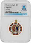 Explorers:Space Exploration, Skylab 2 (SL-3): Gilt Mission Insignia Pendant From The Armstrong Family Collection™, CAG Certified....