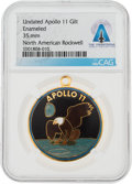 Explorers:Space Exploration, Apollo 11: Mission Insignia Pendant Directly From The Armstrong Family Collection™, CAG Certified....