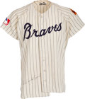 Baseball Collectibles:Uniforms, 1969 Orlando Cepeda Game Worn & Signed Atlanta Braves Jersey. ...
