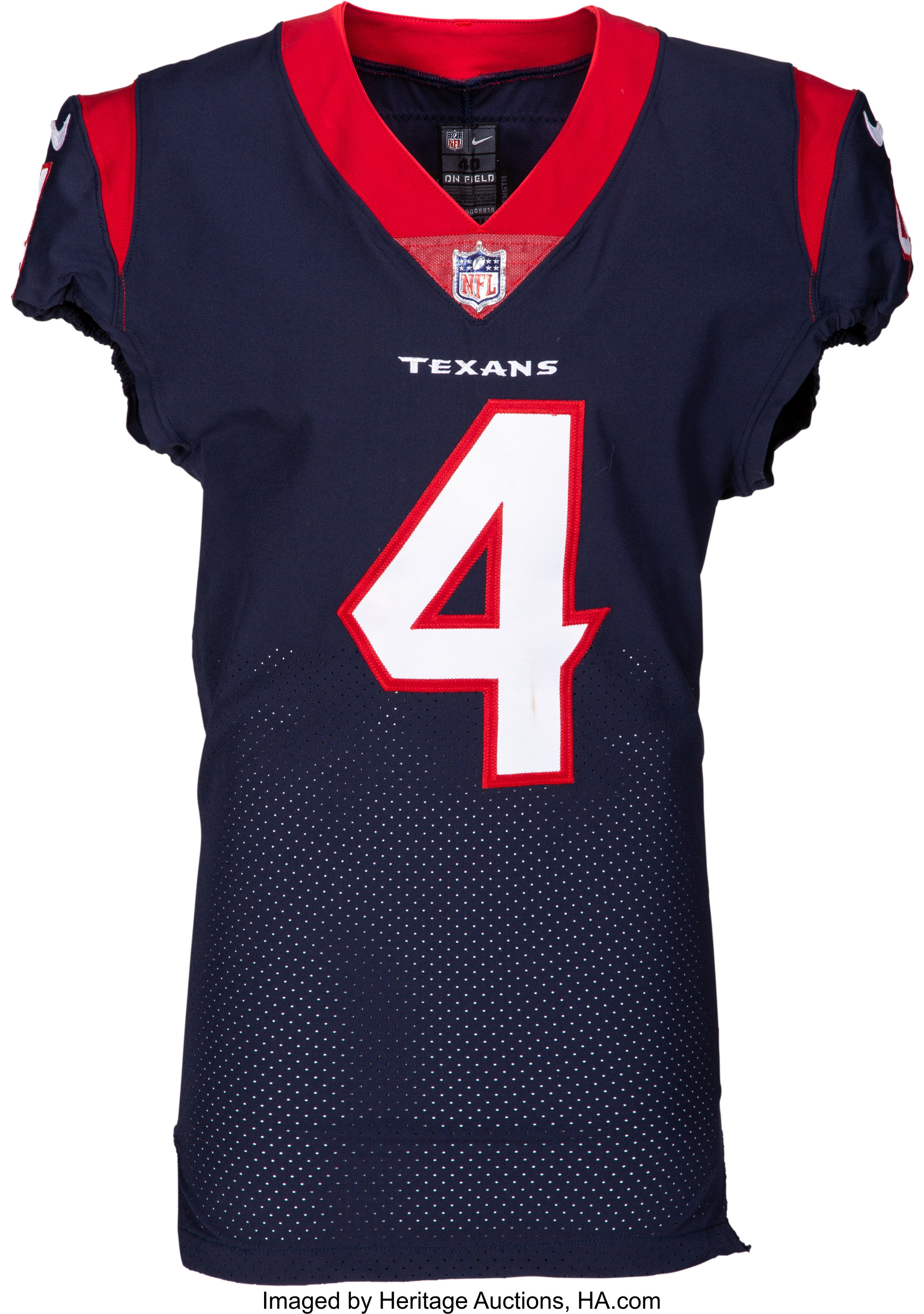 8144ed453c7 2017 Deshaun Watson Game Worn & Signed Houston Texans Jersey | Lot #56818 |  Heritage Auctions
