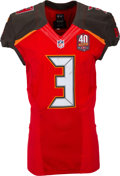 Football Collectibles:Uniforms, 2015 Jameis Winston Game Worn Tampa Bay Buccaneers Rookie Jersey - Photomatched to 12/6 vs. Falcons....