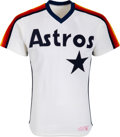Baseball Collectibles:Uniforms, 1984-88 Kevin Bass Game Worn & Signed Houston Astros Jersey....