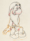 Animation Art:Production Drawing, Snow White and the Seven Dwarfs Grumpy Animation Drawing(Walt Disney, 1937)....