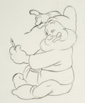 Animation Art:Production Drawing, Snow White and the Seven Dwarfs Happy Animation Drawing (Walt Disney, 1937)....