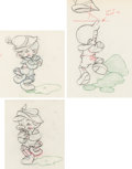 Animation Art:Limited Edition Cel, Pinocchio Animation Drawings Sequence of 3 (Walt Disney,1940)....