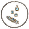 Estate Jewelry:Lots, Blue Topaz, Gold, Sterling Silver Jewelry, John Hardy. ... (Total: 4 Items)